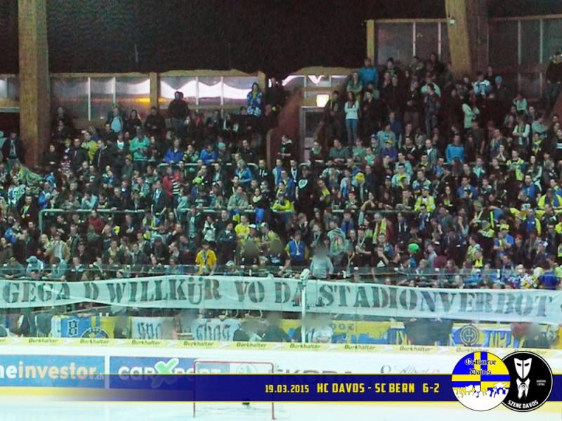 HC Davos SC Bern 19032015 Saison 1415 Ostkurve Davos